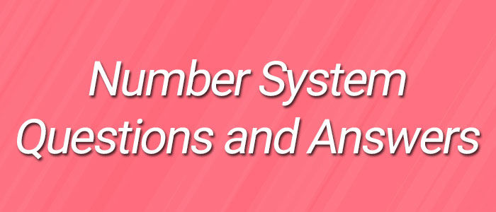 Number System Questions and Answers