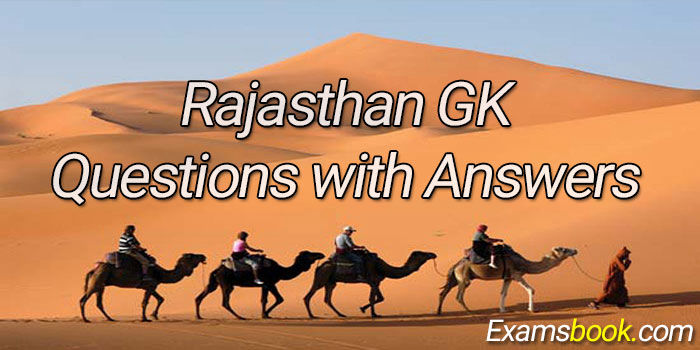Rajasthan GK Questions with Answers for Competitve Exams