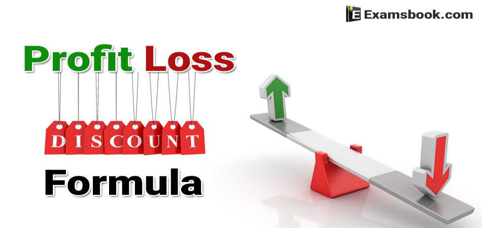 profit loss and discount formula for ssc and bank exams