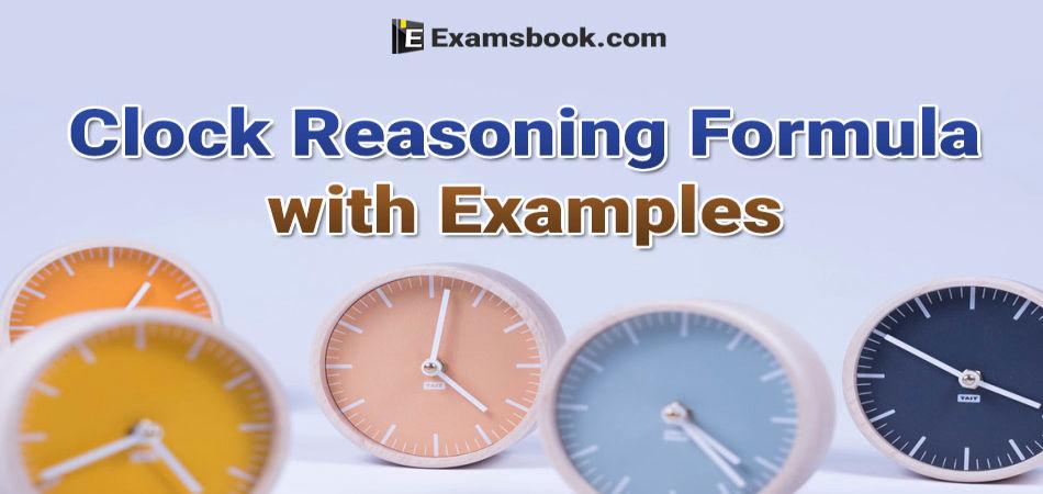 clock reasoning formulas with examples