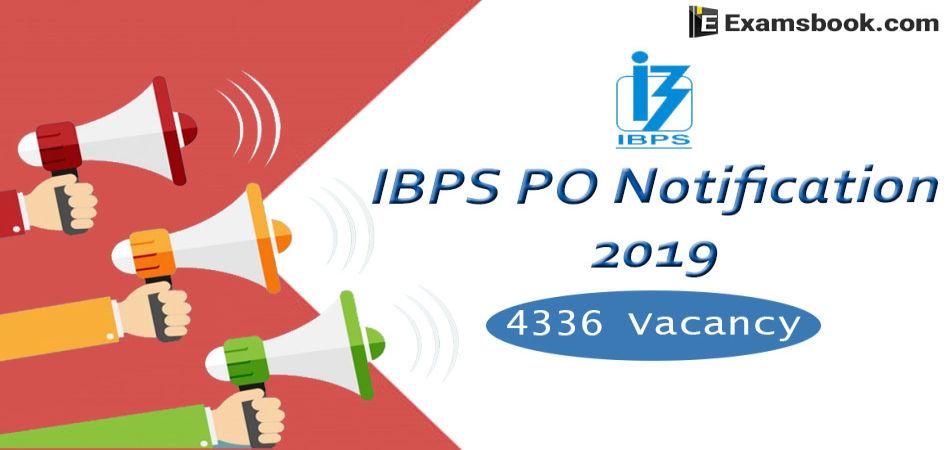 ibps po notification 2019