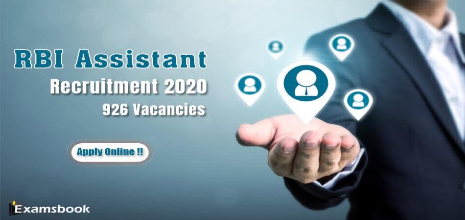 rbi bank assistant recruitment 2020