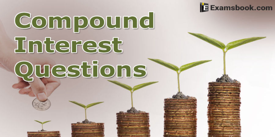 Compound interest questions and answers