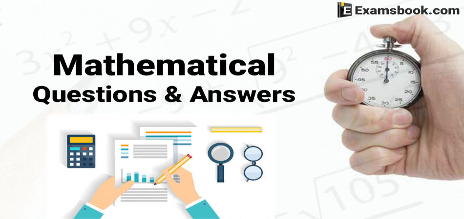 maths questions and answers