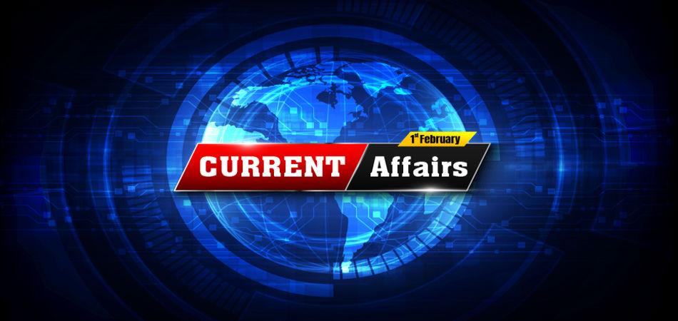 Current Affairs Qeustions February 01