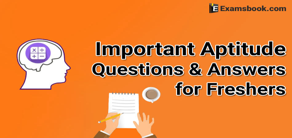 general aptitude questions for freshers