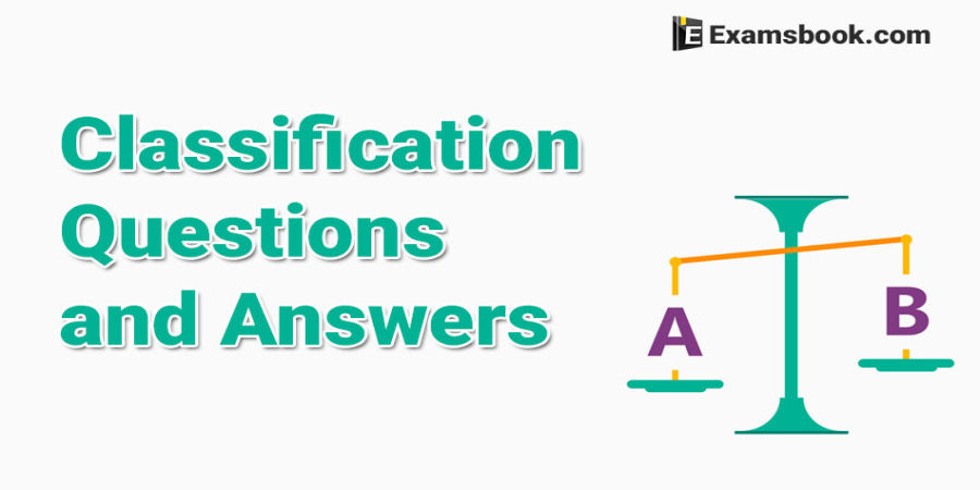 Classification Questions