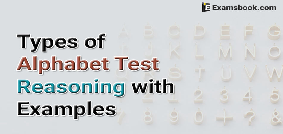types of alphabet test reasoning with examples
