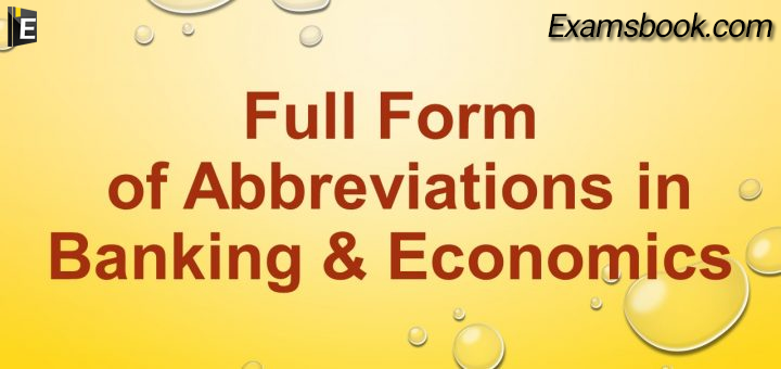 economics abbreviations