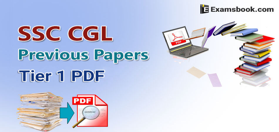SSC CGL previous papers tier 1