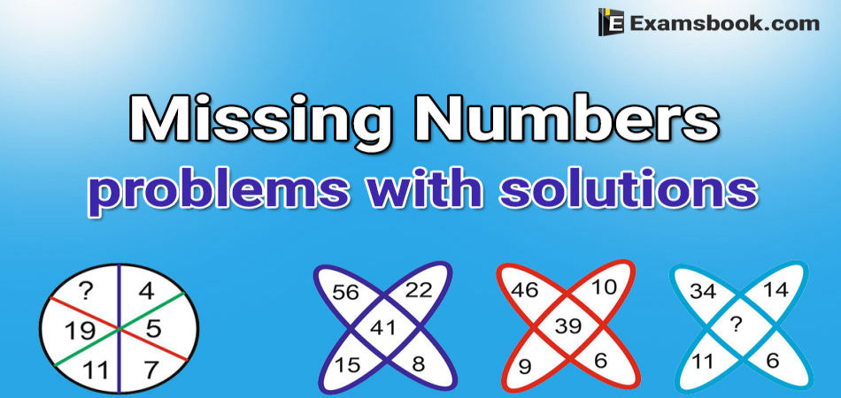 missing number problems with solutions