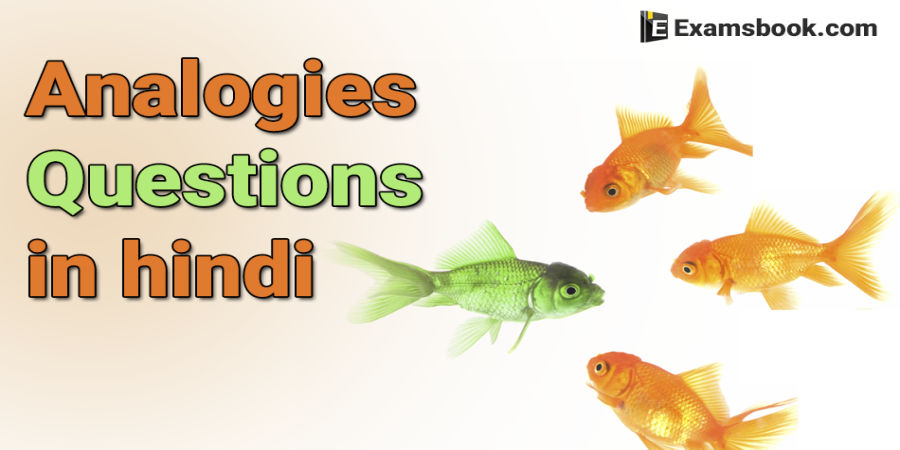 Analogies Questions in English with answers for SSC and Bank Exams
