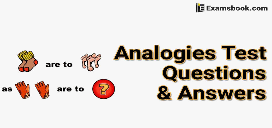 Analogies test questions