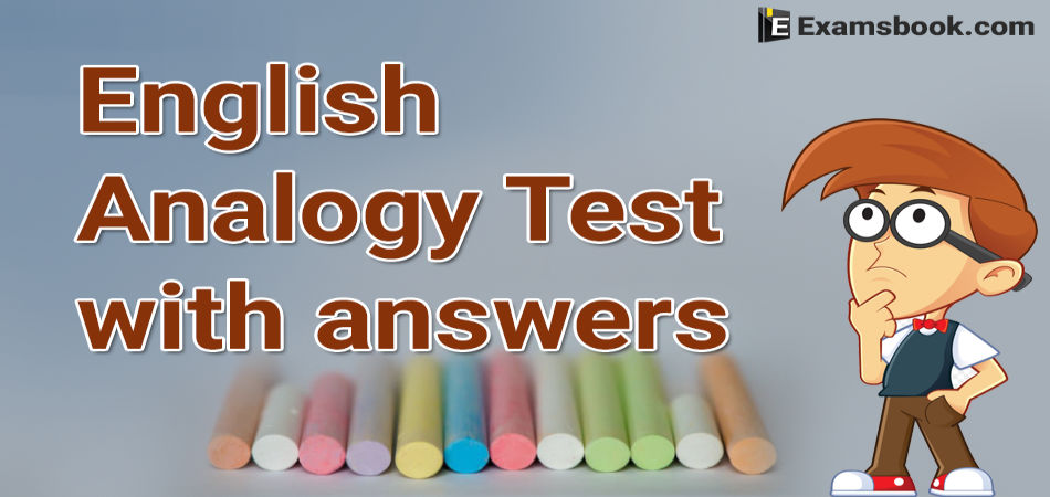 english analogy test with answers