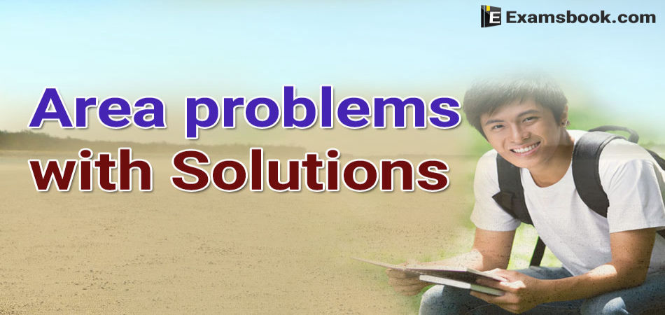 area problems with solutions