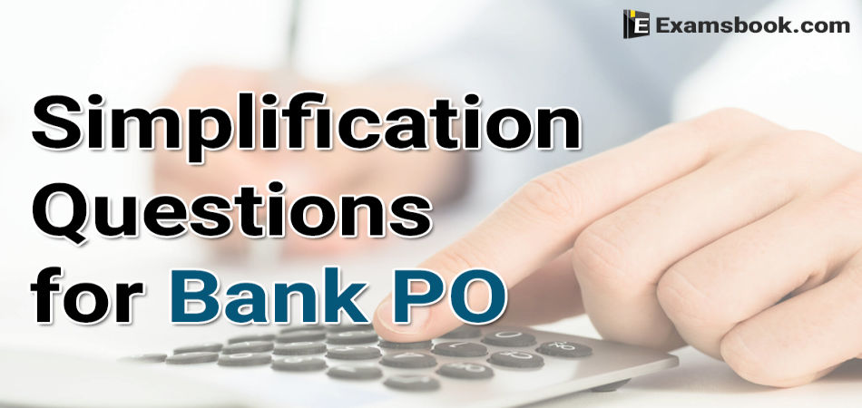 simplification questions for bank po