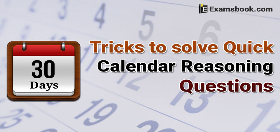 Calendar Reasoning Questions Tricks for Bank Exams and SSC