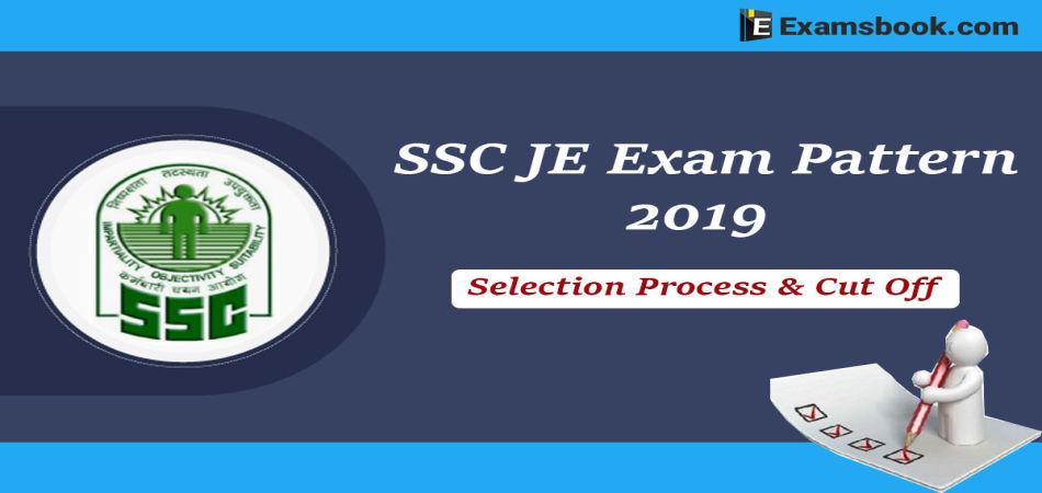 ssc je exam pattern 2019
