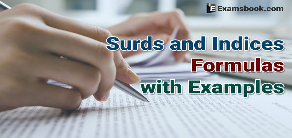 surds and indices formulas with examples