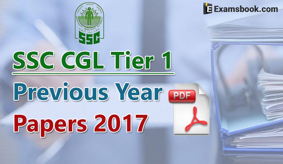 ssc cgl paper 2017 pdf
