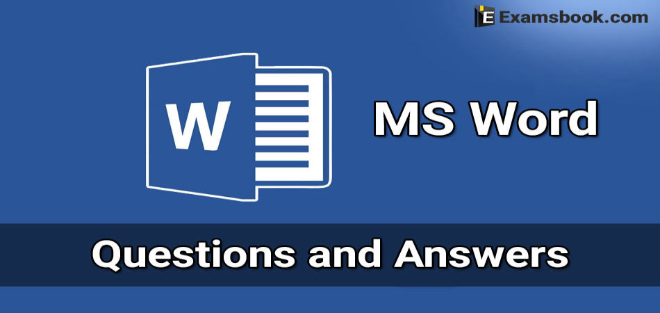ms word questions and answers for bank exams