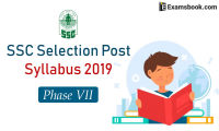 ssc selection posts syllabus 2019 phase VII