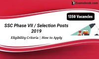 ssc selection posts recruitment phase vii 2019