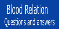 Blood Relations Questions and Answers