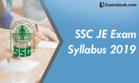 ssc je exam syllabus 2019