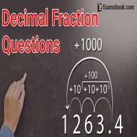 Decimal fraction Questions