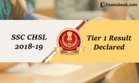 ssc chsl tier 1 result 2018-19