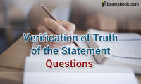 verification of truth of the statement