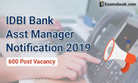 IDBI bank assistant manager notification 2019