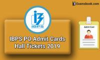 IBPS PO Admit Cards