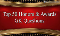 GK Questions on Awards
