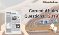 Current-Affairs-Questions-2019-April-19th