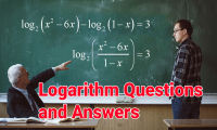 Logarithm questions and answers