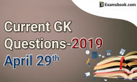 Current-GK-Questions-2019-April-29th