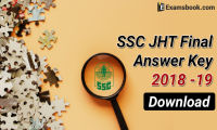 ssc jht final answer key 2018 - 19 released