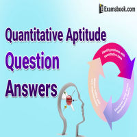 quantitative aptitude questions and Answers