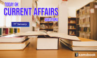 17 jan Today GK Current Affairs Questions