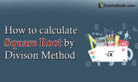 how to calculate square root by division method