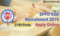 EPFO SSA recruitment 2019 apply online