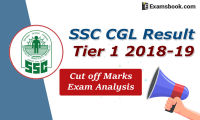 ssc cgl result tier 1 2018-19