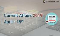 Current-Affairs-2019-April-15th