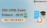 SSC CHSL exam pattern 2019