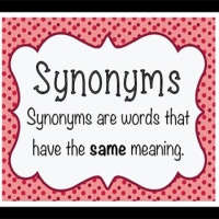 List of synonyms words