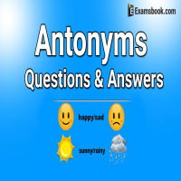 Antonyms Questions and answers