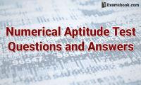 numerical aptitude test questions