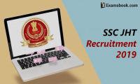 ssc jht recruitment 2019